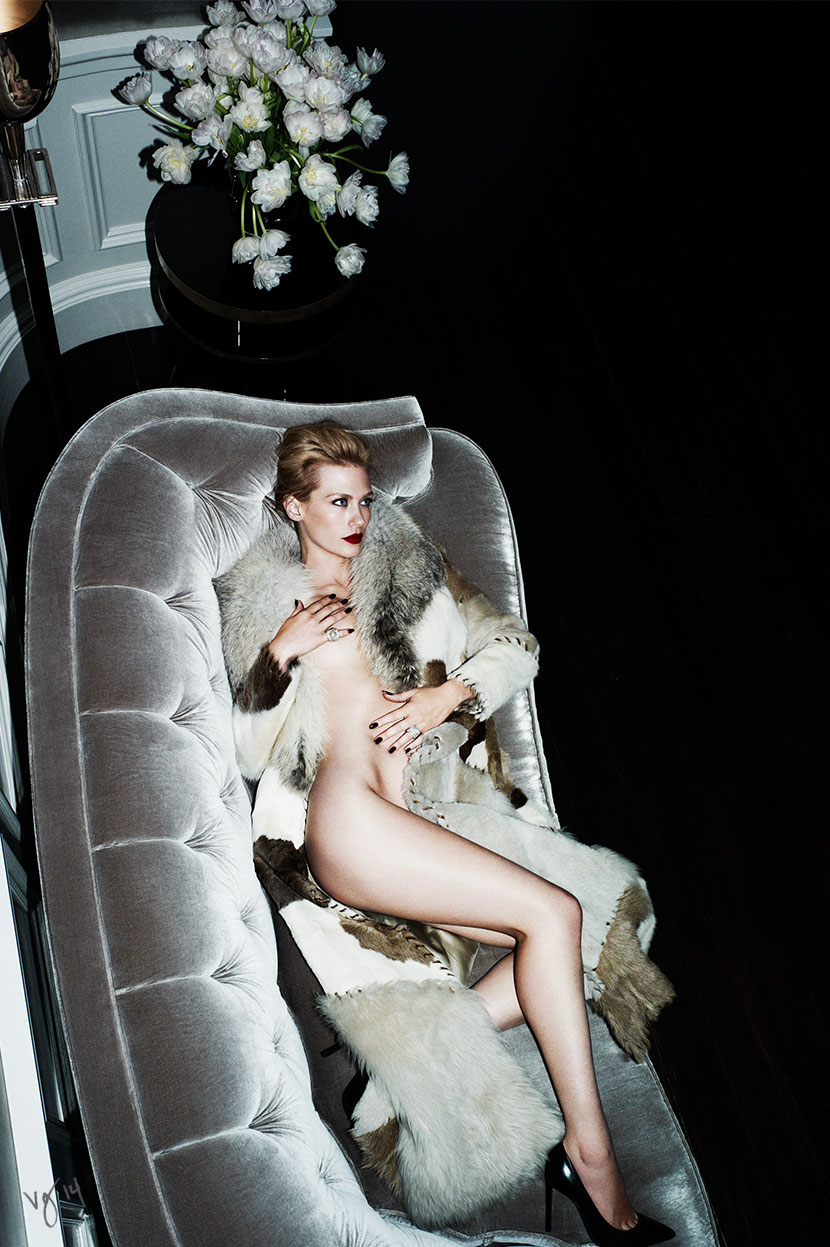 At Home With JANUARY JONES | Photography by Ben Hassett, Makeup by Rachel Goodwin, Hair by Giannandrea for #VIOLETGREY, The Industry's Beauty Edit