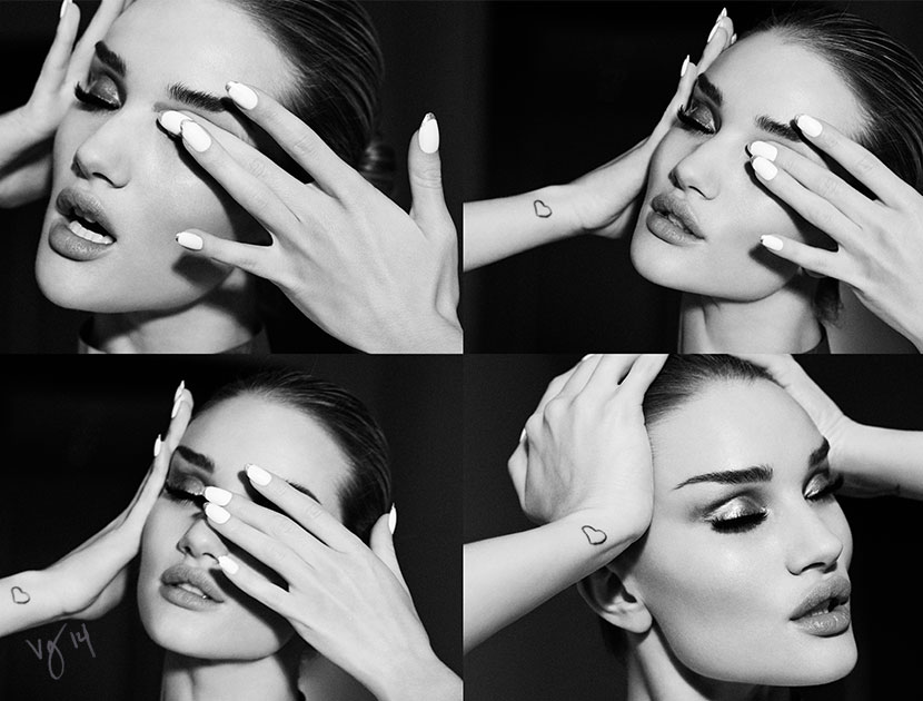 Rosie Huntington-Whiteley photographed by Emma Summerton for THE VIOLET FILES  |  #VioletGrey, The Industry's Beauty Edit
